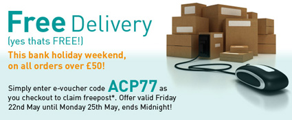 Freepost this Bank holiday Weekend on www.cooksongold.com
