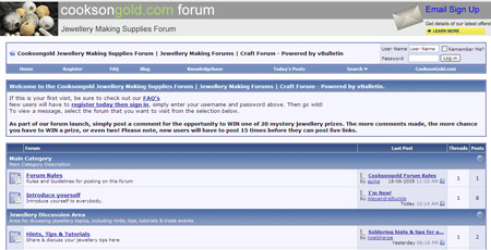 NEW Jewellery Making Forum from Cooksongold