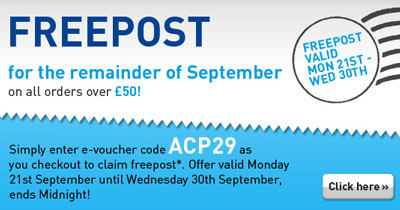 FREEPOST on ALL UK Orders Over £50