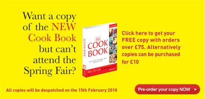 Pre-order your Cook Book NOW
