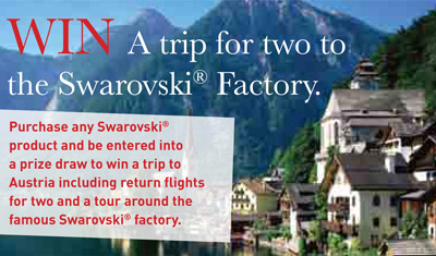 WIN a trip to the Swarovski factory