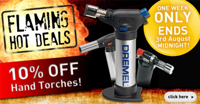 10% OFF Hand Torches - ENDS Tuesday 3rd August