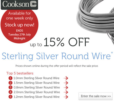 Sterling Silver Round Wire Sale