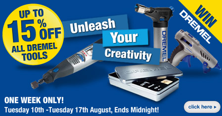 Up to 15% OFF Dremel Tools - Add one to your order & WIN