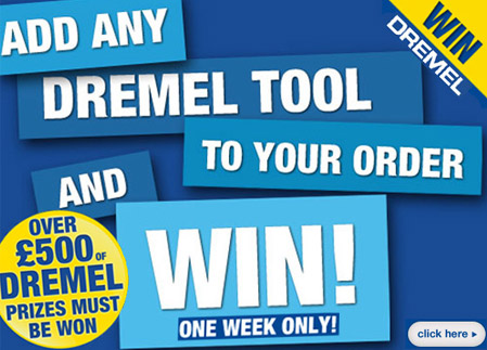 There's over 500's of Dremel Tools to WIn at Cooksongold