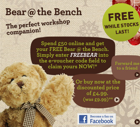 Free Bear at the Bench
