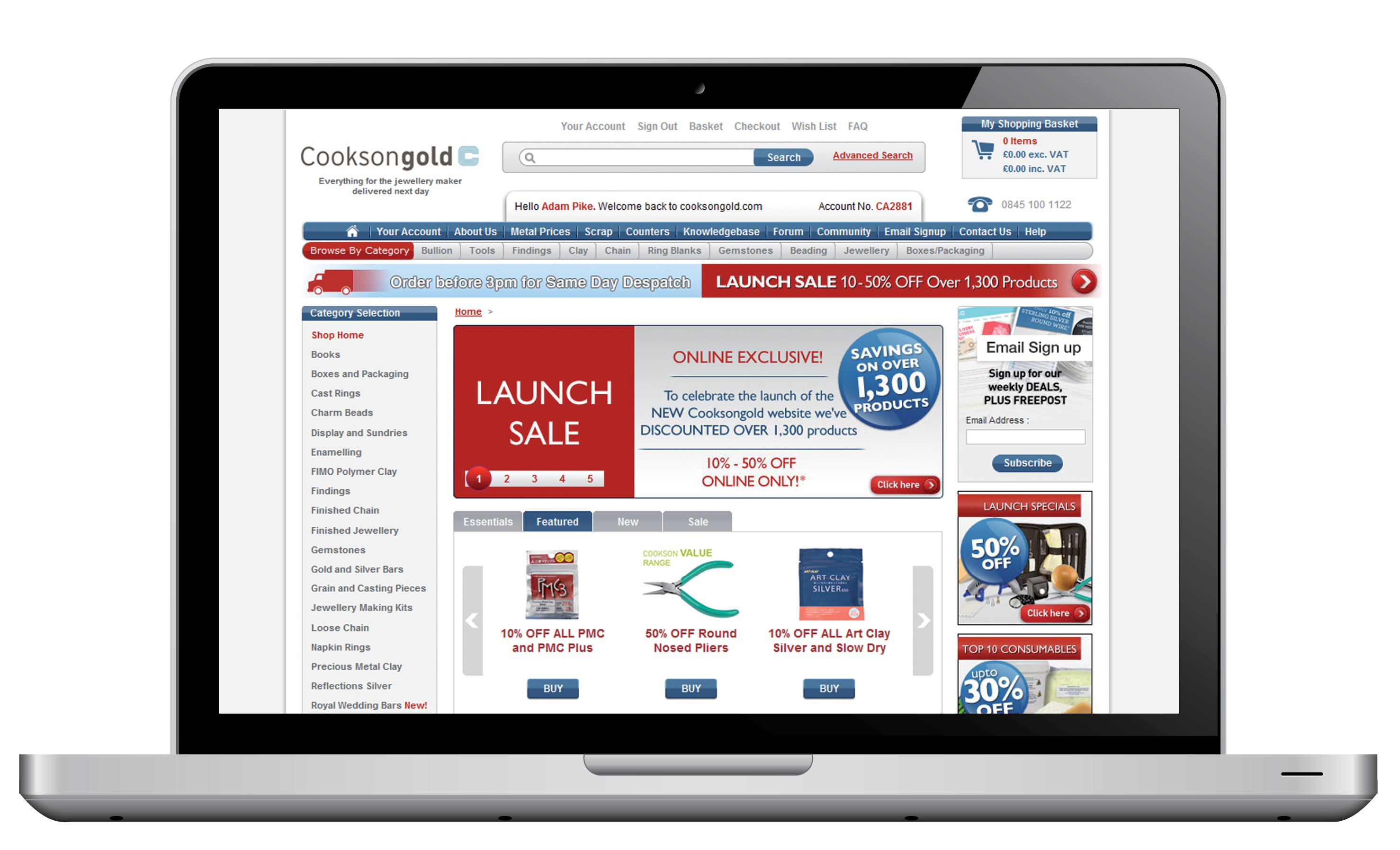 NEW Cooksongold Website Launch