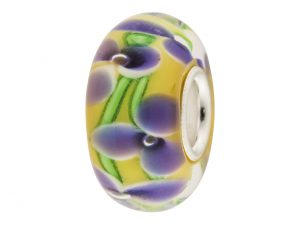 Yellow Glass Charm Bead