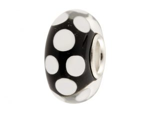 Black Glass Charm Bead