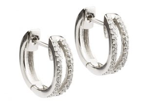 Sterling Silver earrings with CZ's