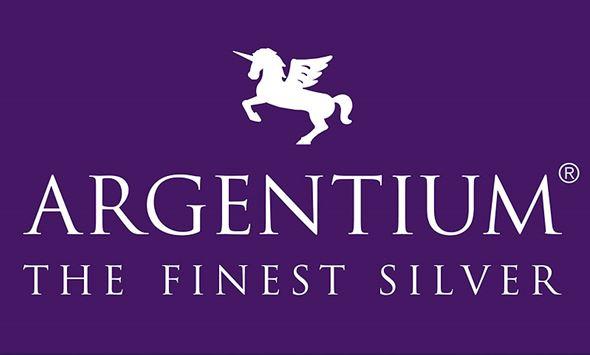 Argentium logo, Featuring the Winged Unicorn