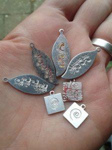 ImpressArt stamped pendants