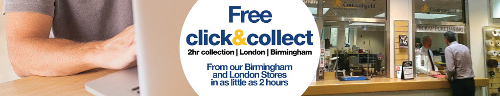 Free Click and Collect from our Birmingham and London counters