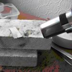 hand torch heating solder