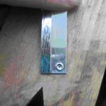 polished back of pendant