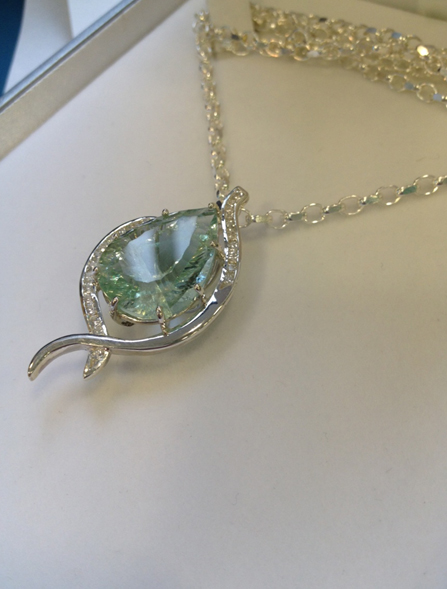 How to make a sterling silver necklace with a basket setting the bench this pendant was inspired by and based mainly around the beautiful large green fluorite stone that features in the centre im a student at the birmingham mozeypictures Images