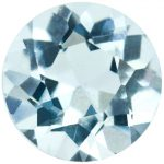 round aquamarine gemstone