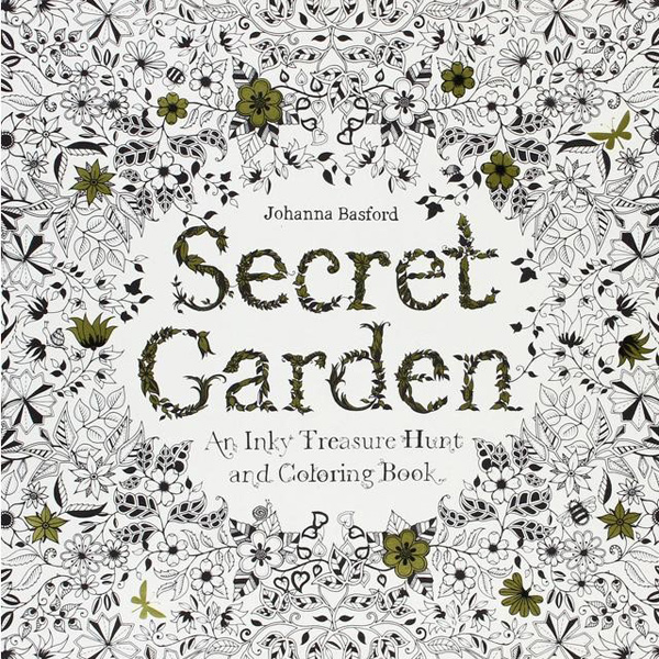 Adult Colouring 1 Secret Garden An Inky Treasure Hunt And Book By Johanna Basford