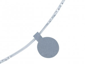silver dumbbell jewellery labels
