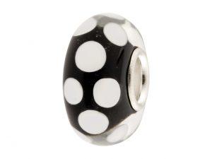 Black Glass Charm Bead
