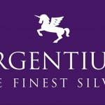 Argentium logo, Featuring the Winged Unicorn