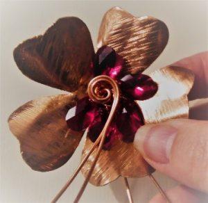 Flower Shaped Swarovski Pendant