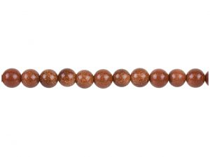 "Goldstone Beads, 8mm Round, 16""/40cm Strand"