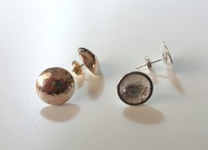 dome metal sphere earrings