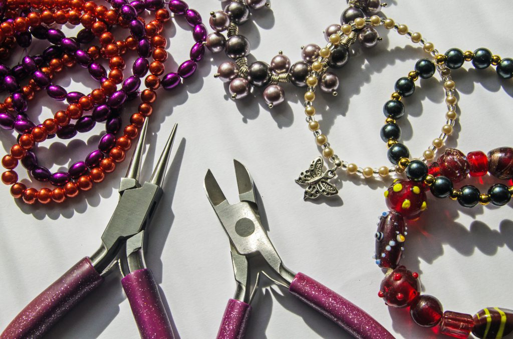 jewellery pliers and beads