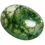 Moss Agate Oval Cabochon Stone