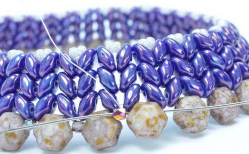 Superduo Honeycomb Bangle step 11