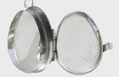 silver box locket