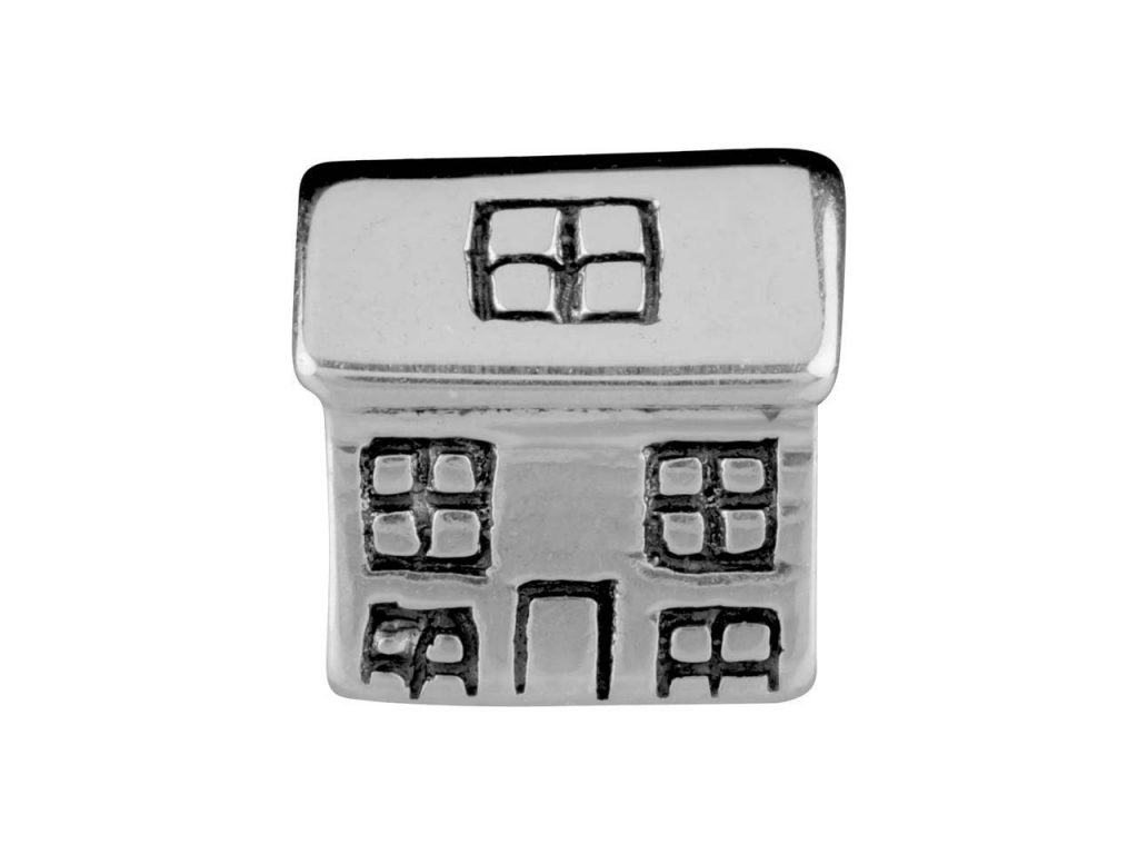 Sterling Silver House Charm Bead