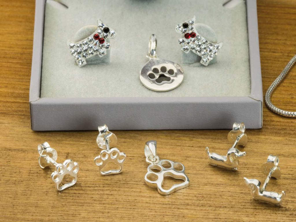 Silver animal themed jewellery