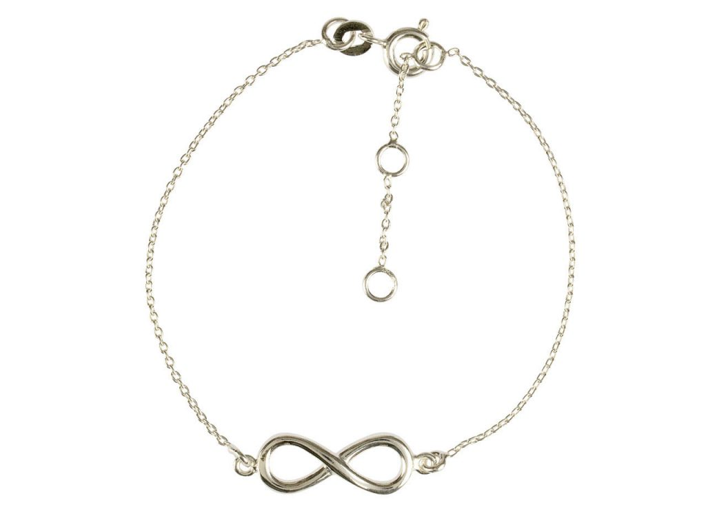 Sterling Silver Bracelet with Infinity Locator