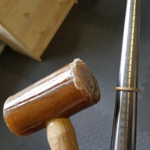 shaping a ring band with a mallet
