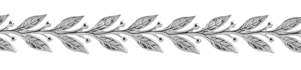 Sterling Silver Leaf and Berry Gallery Strip