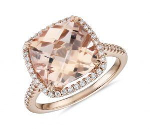 morganite stone ring