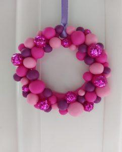 Pink Mini Wreaths Crafts
