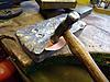 Click image for larger version.  Name:05 Starting hammering leaf shape.jpg Views:28 Size:75.5 KB ID:11770