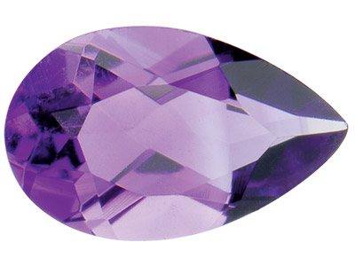 Amethyst, Pear, 8x5mm