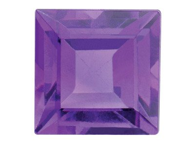 Amethyst, Square, 4x4mm