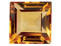Citrine,-Square,-3x3mm