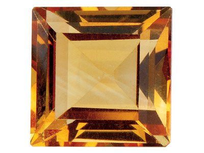 Citrine Square 4x4mm