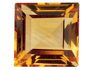 Citrine, Square, 5x5mm