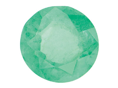 Emerald, Round, 1.5 To 3mm Mixed   Sizes, Pack of 25