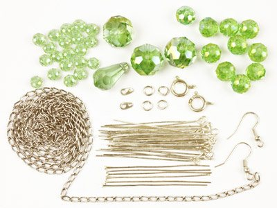 Glass Crystal Bead Kit - Green