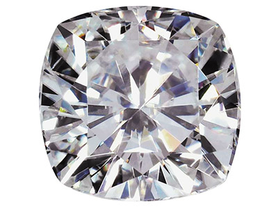 Moissanite Cushion 3.5mm 0.19cts Diamond Equivalent 0.22cts Very   Good Quality
