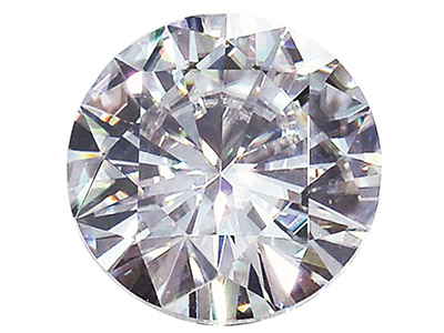 Moissanite, Round 5mm 0.41cts,     Diamond Equivalent 0.50cts, Very   Good Quality