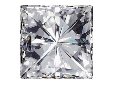 Moissanite, Square 2.5mm 0.11cts,  Diamond Equivalent 0.12cts, Very   Good Quality